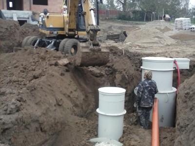 Montáž čistírny odpadních vod